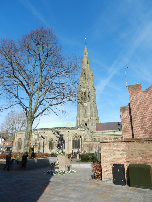 Leicester Cathedral, now containing the remains of King Richard III, seen 27 March 2015, the day after the reinterment service.