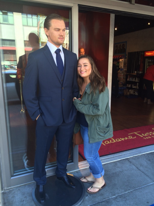 Yeah, Leonardo was just hanging out by the wax museum. He is a very nice quiet guy!