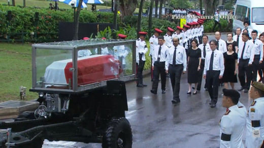 Snapshot of late Mr Lee Kuan Yew's state procession.