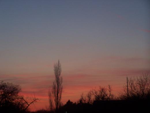 A rosy dawning...