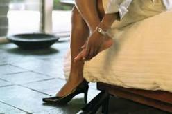Putting on heels