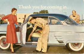 Gas station attendants in the old days checked everything on a car