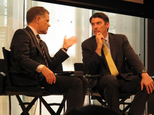 CEO of AOL Tim Armstrong getting interviewed