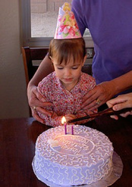 Blow out the candle and make a wish