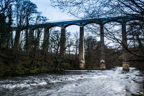 Famous aqueduct in Llangollen, Wales