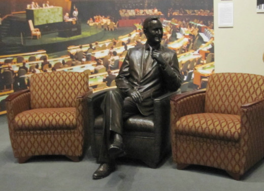 Seated President, George H.W. Bush Museum