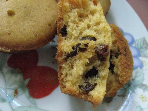 freshly baked Chocolate chips muffins for Easter snacks