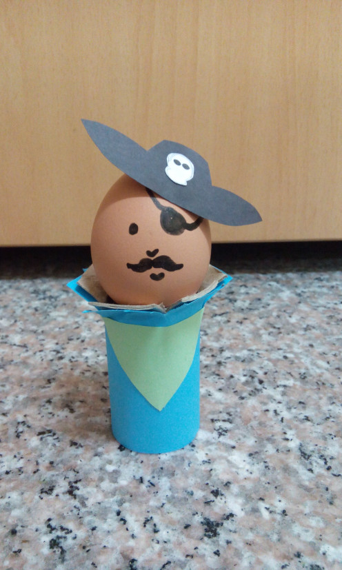 My son and I made this Easter Egg Pirate craft for fun!