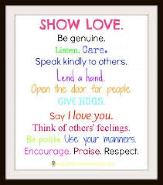 How to show love