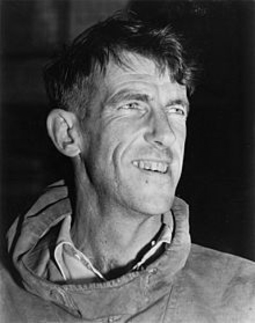 Sir Edmund Hillary, first man to climb Mount Everest