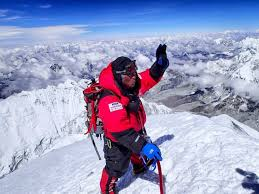 The only man who jumped from Mount Everest