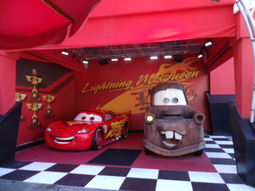 You can even meet Lightning McQueen and Mater!