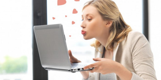 Your computer will never kiss you back, so just saying...