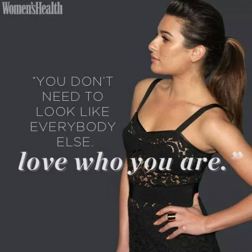 Love who you are while you are active and while you are wearing active wear, even when you aren't being active or wearing the wear.