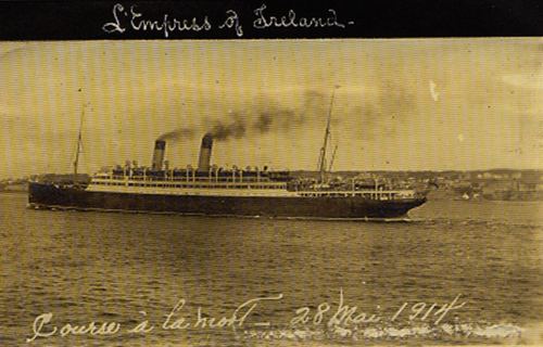 The last known photograph of the Empress. Note the date at the bottom.