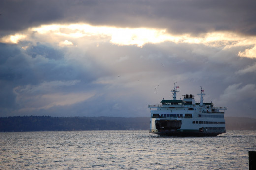 Washington State Ferry From a Distance