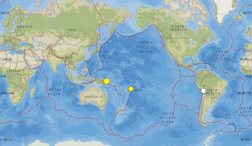Magnitude 6.4 or greater worldwide seismic events for the month of March 2015.