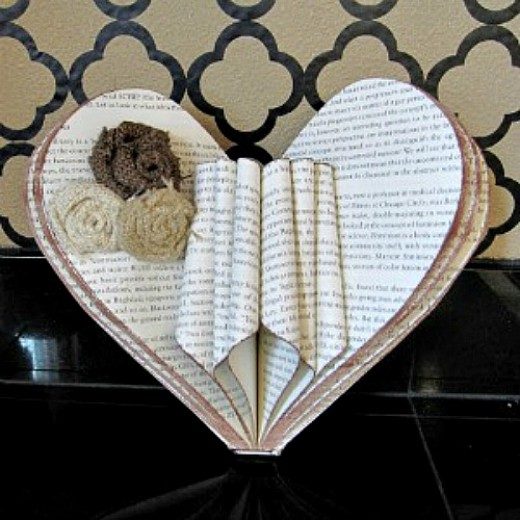 Old Book Cover Ideas : Old book page crafts