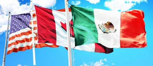 Image Content: USA Flag, Canada Flag, Mexico Flag