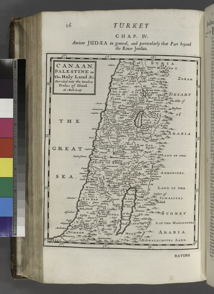 Map showing the location of the Twelve Tribes of Israel