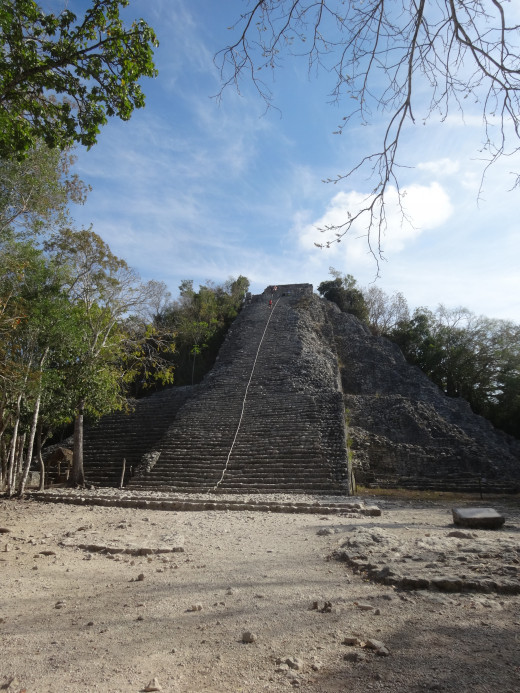 Nohuch Mul pyramid, Cobá, QR.   photo taken in the morning, March of 2015