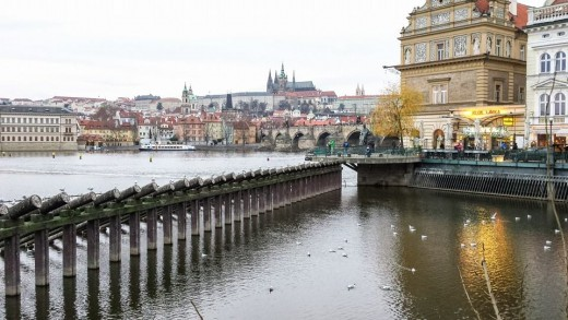 Prague Castle, overlooking the Vltava River, dates from 870 and is still the official residence of the president of the Czech Republic.