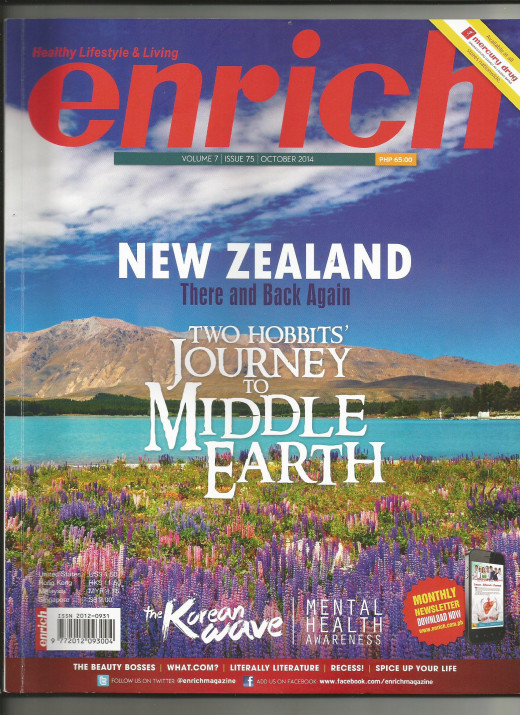 Cover of Enrich Magazine where this article was featured.