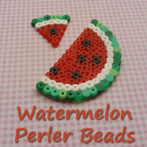 Watermelon fused bead designs