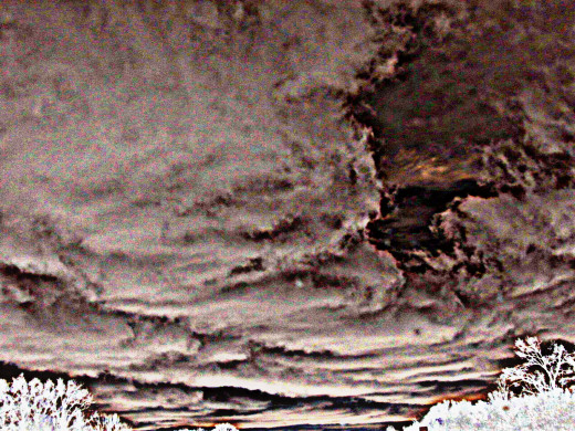 March 2015 - Colorized to show the strangeness of the clouds today