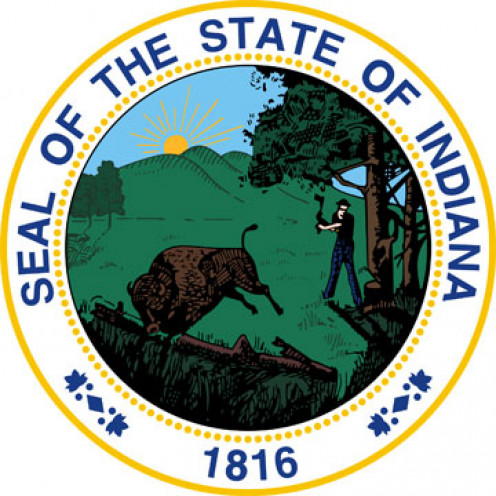 The State Seal of Indiana