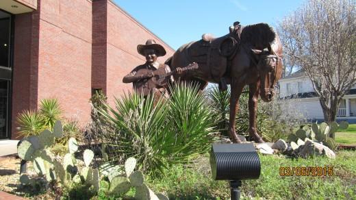 Tex Ritter Statue, Tex Ritter Museum, Carthage, Texas