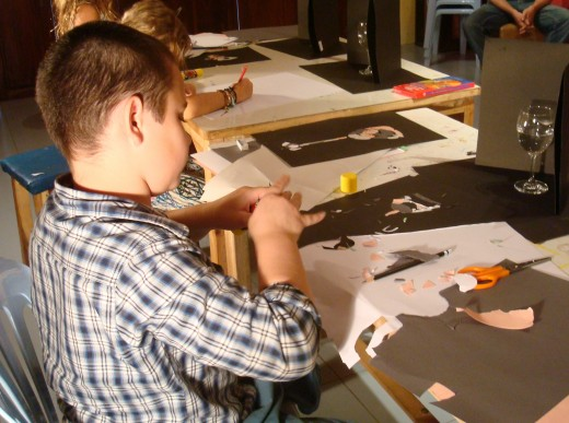 "In action during the ""Whiz Kids Class""  at ArtSpace in Chiang Mai, Thailand"