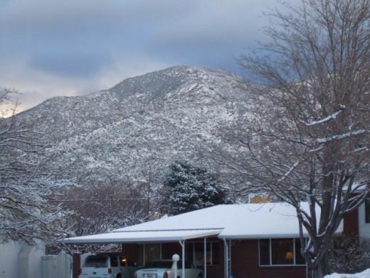 Yep, that's snow on the mountain