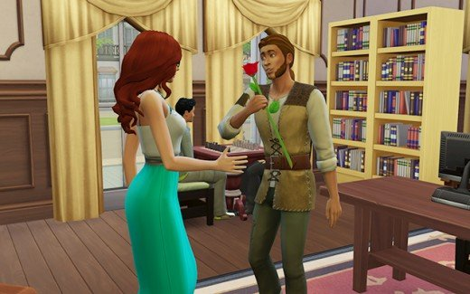 Cordelia offers Hans (I mean Ishmael) a rose.
