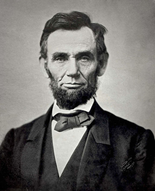 1863 image of Abraham Lincoln