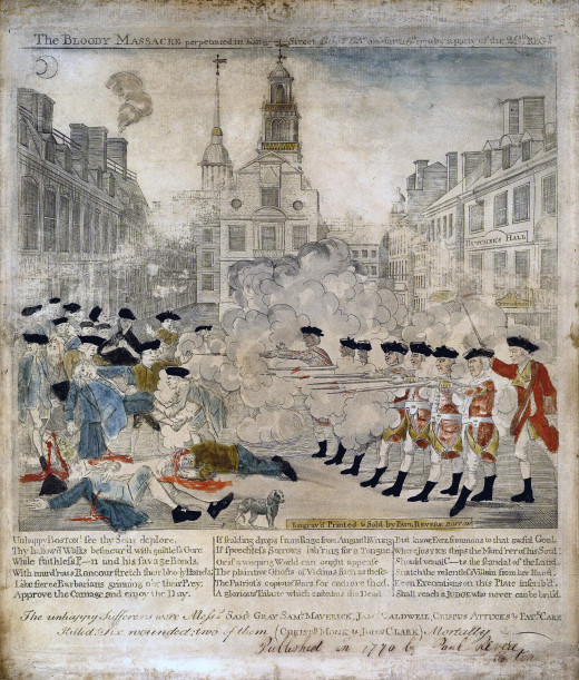 The bloody massacre perpetrated in King Street Boston on March 5th 1770 by a party of the 29th Regt. According to the Library of Congress