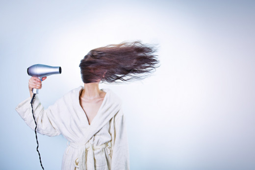 Hair dryers can dry out your hair.