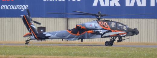 A Netherlands Air Force Apache AH-64 at RIAT 2013, RAF Fairford