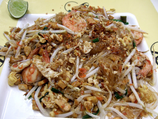 You can add variety to fried rice by replacing some or all of the rice with cellophane noodles.