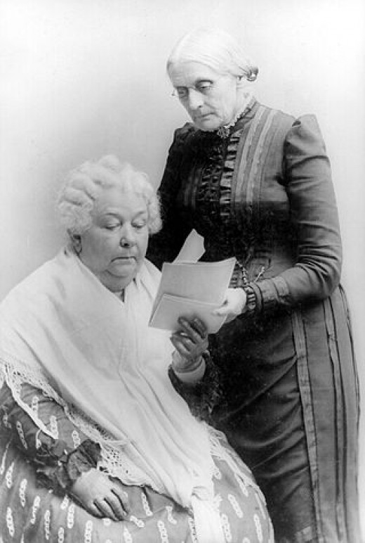 Susan B. Anthony with Elizabeth Cady Stanton