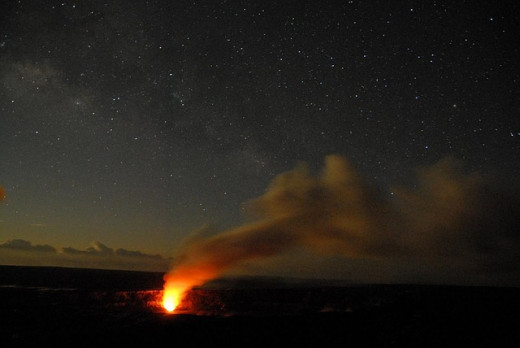 Night Volcano