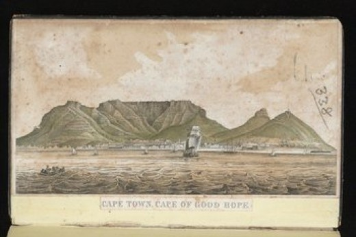 An illustration of Cape Town taken from the diary of Thomas Graham