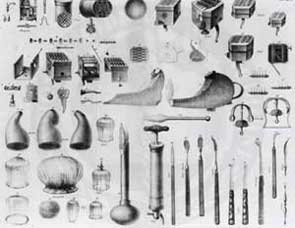 Just some of the instruments that they used in the 19th Century