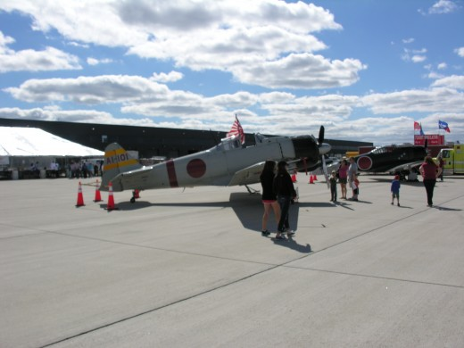 A replica of a Mitsubishi A6M Zero-Sen at Dulles Airport, VA, September 2013.