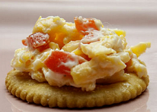 Pimento cheese is a wonderful dip served with crackers and bread. or with carrot and celery sticks