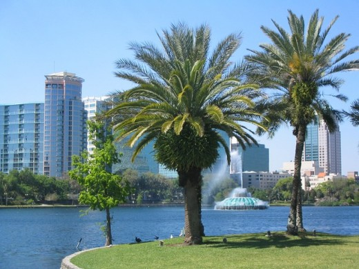 "Located in Central Florida, Orlando is the fifth largest city in the state and the county seat of Orange County.  A popular tourist location, the city is also sometimes called ""The Theme Park Capital of the World""."