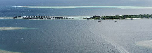 The small island where residents saw a huge airline flying low on March 8.