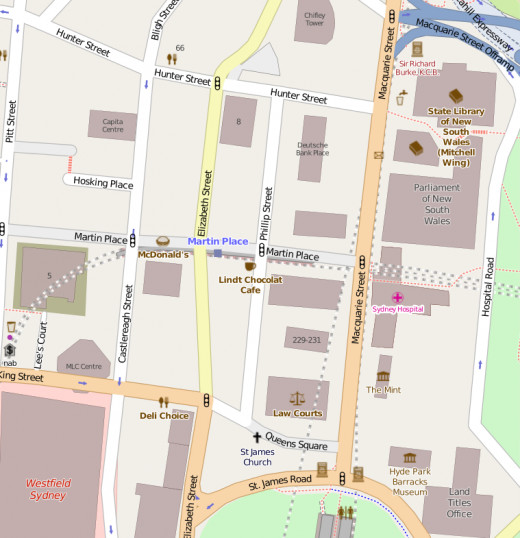 Martin Place, the Hub of the City.