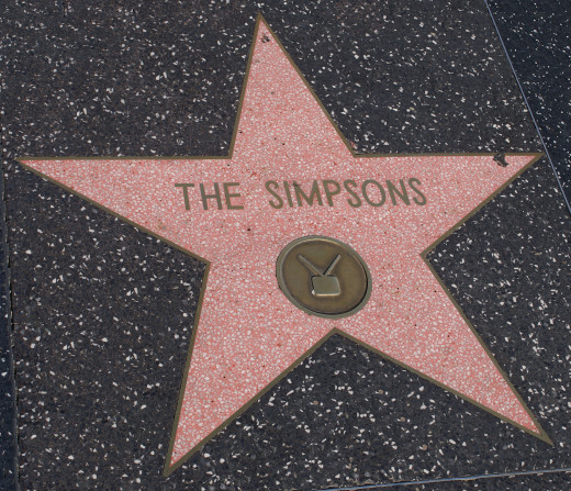 """The Simpsons"" on the Hollywood Walk of Fame."