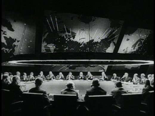 "The War Room in ""Dr. Strangelove"" (1964)."